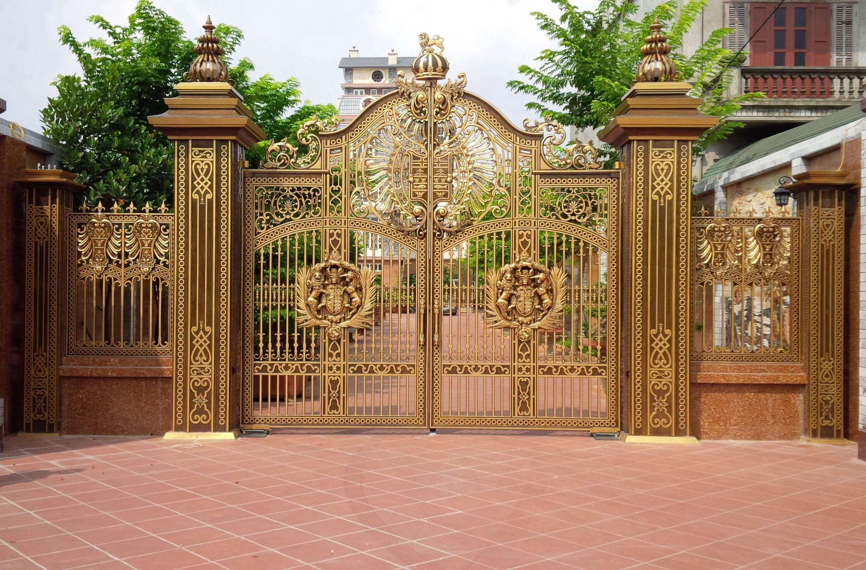 Tư vấn thiết kế cửa cổng nhôm đúc hợp phong thuỷ