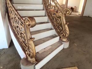 Cầu thang nhôm đúc mẫu 027