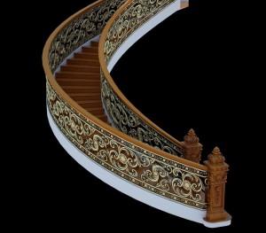 Cầu thang nhôm đúc 003