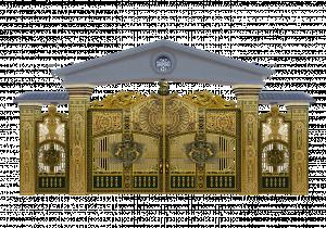Cổng nhôm đúc mẫu 047