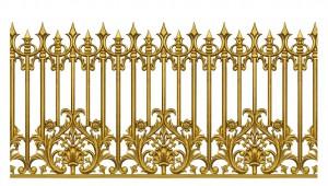 Hàng rào nhôm đúc mẫu 014