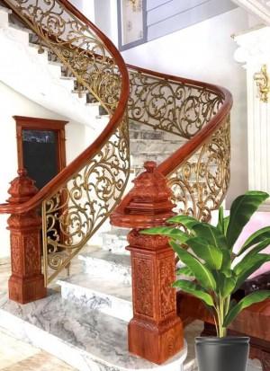 Cầu thang nhôm đúc 012