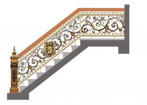 Cầu thang nhôm đúc mẫu 022