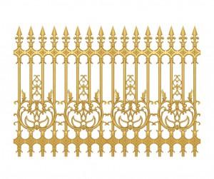 Hàng rào nhôm đúc mẫu 015