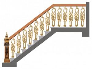 Cầu thang nhôm đúc 015