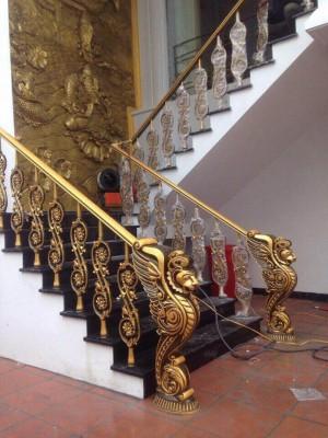 Cầu thang nhôm đúc 014