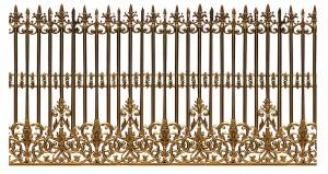 Hàng rào nhôm đúc mẫu 005