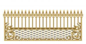 Hàng rào nhôm đúc mẫu 011